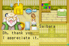 Harvest Moon - More Friends of Mineral Town - Saibara likes copper as gifts... - User Screenshot